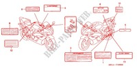 CAUTION LABEL (1) for Honda CBR 1000 RR 2004
