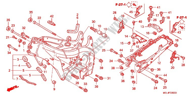 Frame For Honda Cbr 1000 Rr Repsol 2005   Honda Motorcycles  U0026 Atvs Genuine Spare Parts Catalog