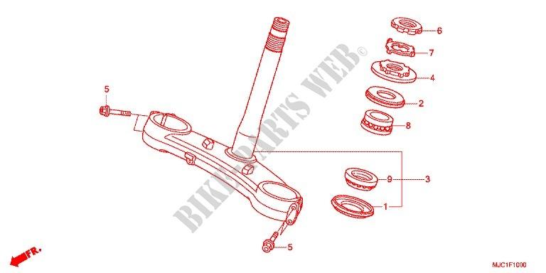 Steering Stem For Honda Cbr 600 Rr Abs Black 2016   Honda