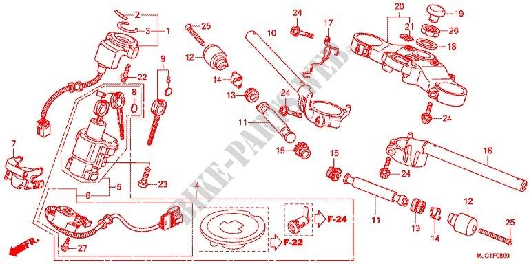 Handle Pipe  Top Bridge  2  For Honda Cbr 600 Rr Repsol