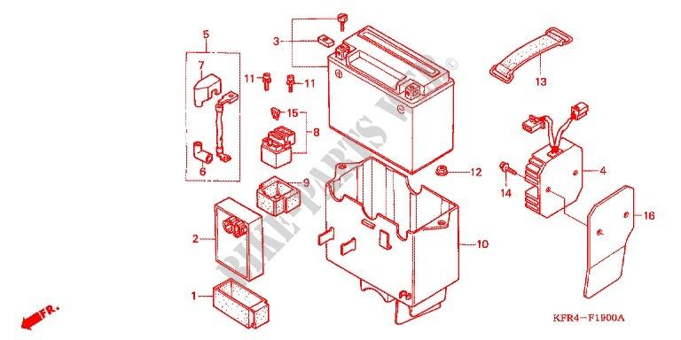 wire harness battery for honda cn 250 helix 1999 honda. Black Bedroom Furniture Sets. Home Design Ideas