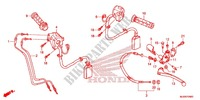 HANDLE LEVER/SWITCH/CABLE (1) Honda motorcycle microfiche diagram CBR500RAH 2017 CBR 500 R ABS