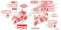 CAUTION LABEL (1) for Honda CBR 650 F ABS ROUGE 2018