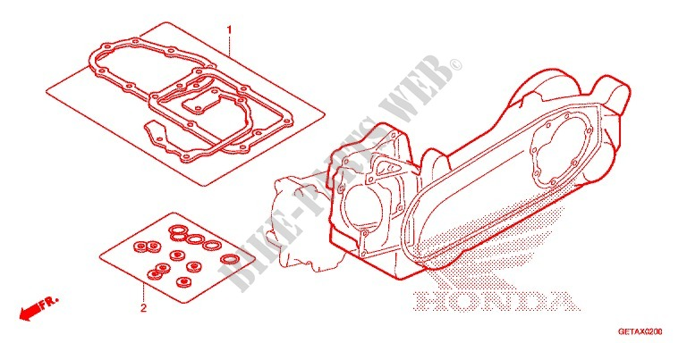 GASKET KIT B for Honda 50 METROPOLITAN II 2008