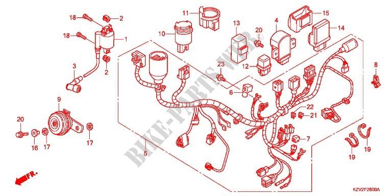 wire harness  battery for honda super cub 110 pro  u30b9 u30fc u30d1 u30fc u30ab u30d6