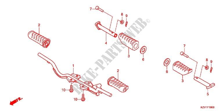 Footrest  Nbc110  For Honda Super Cub 110  U30b9 U30fc U30d1 U30fc U30ab U30d6 2014