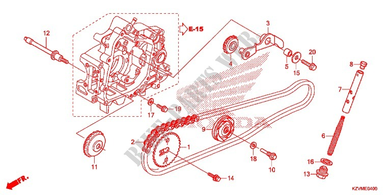 cam chain tensioner for honda dream 110 ex5 electric start  110 engine timing diagram #12