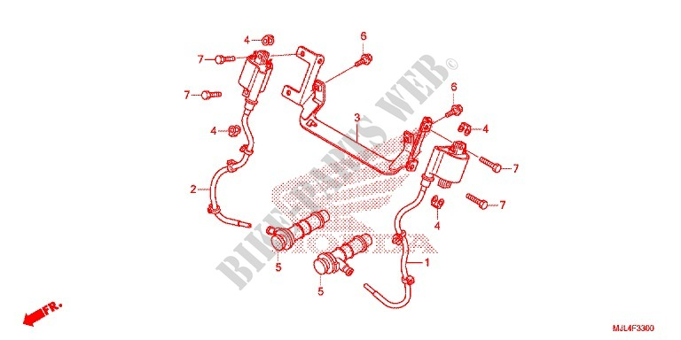 WIRE HARNESS IGNITION COIL BATTERY Frame NC700XF 2015 NC 700 ... on
