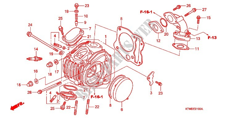 CYLINDER/CYLINDER HEAD for Honda WAVE 125 PGMFi Electric