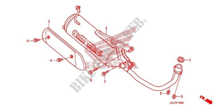EXHAUST MUFFLER 2 Frame NPS509 A 2009 RUCKUS 50 SCOOTER Honda ...