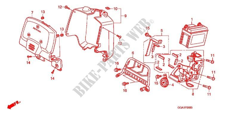 STAY  FR COWL Honda 64400-GEZ-020