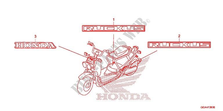 MARK Z50G Frame NPS50G 2016 RUCKUS 50 SCOOTER Honda motorcycle ...