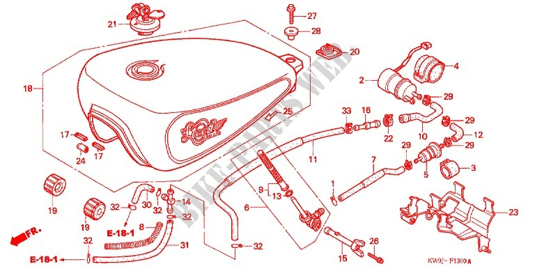 Fuel Tank  Fuel Pump For Honda Steed 400 Vlx Without Speed
