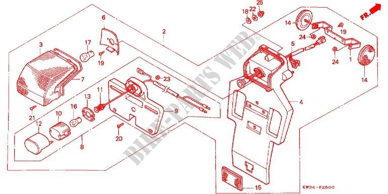 Honda Moto 250 Nx 1988 Nx250ja Frame Taillight 2: Honda Nx 250 Wiring Diagram At Eklablog.co