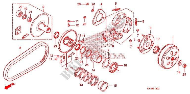 DRIVEN FACE Engine SH150DA 2010 SH 150 SCOOTER Honda