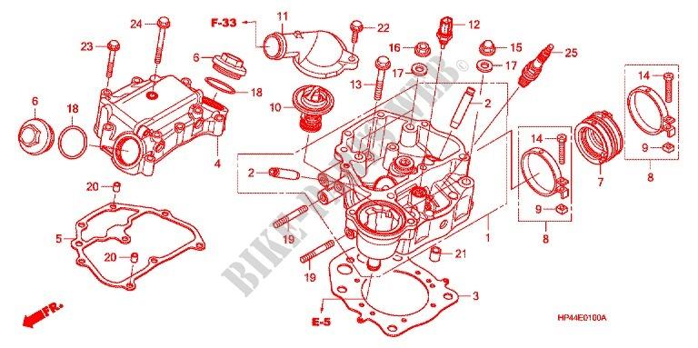 Cylinder Head Engine Trx420fm8 2008 Fourtrax 420 Atv Honda Rhbikepartshonda: Honda 420 Rancher Engine Diagram At Gmaili.net