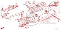 EXHAUST MUFFLER (2) Frame 500 honda-motorcycle FOURTRAX 2013 F_23