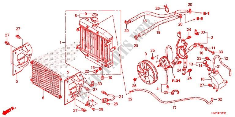 Honda OEM Part 19110-HN2-000