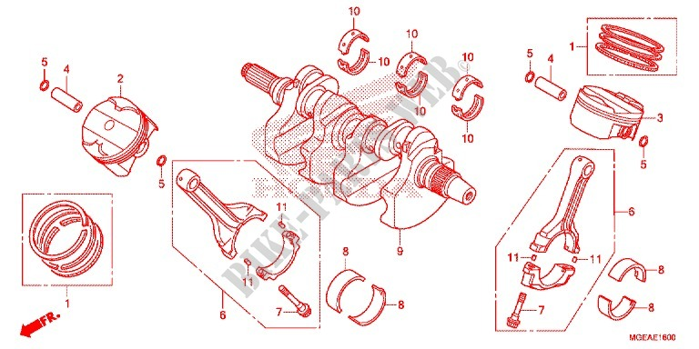 Crankshaft For Honda Vfr 1200 2014   Honda Motorcycles