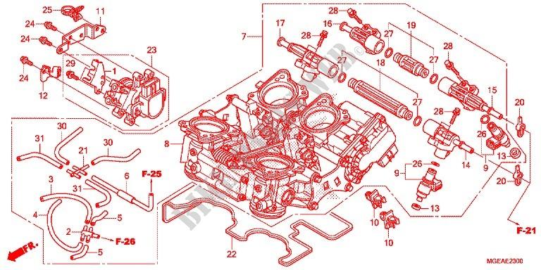Throttle Body For Honda Vfr 1200 2014   Honda Motorcycles
