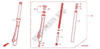 FRONT FORK for Honda WAVE 125, Kick start, Spoked wheels 2011