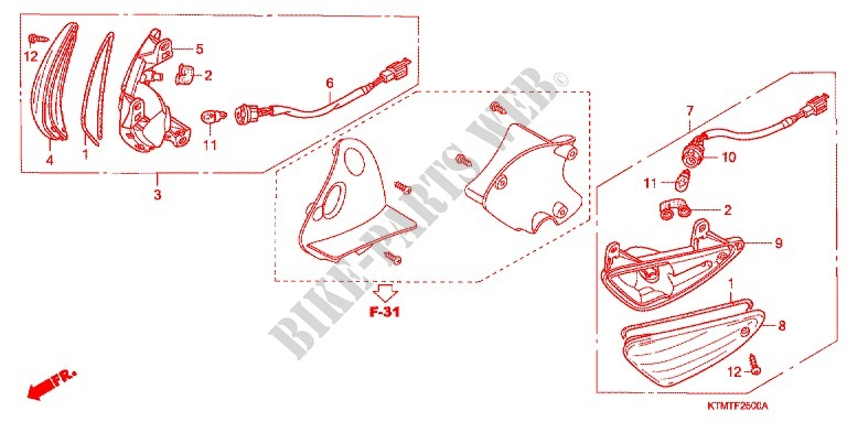 FRONT INDICATOR (1) for Honda WAVE 125, Kick start, Spoked wheels 2010