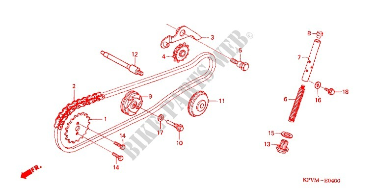 Cam Chain Tensioner For Honda Ex5 Dream 100  Electric
