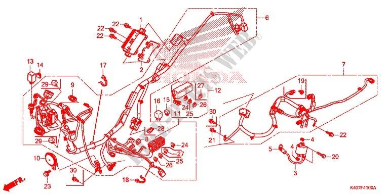 Wire Harness  Battery For Honda Forza 125 Abs 2017   Honda