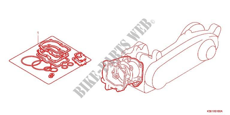 Gasket Kit A For Honda Pcx 125 2015   Honda Motorcycles