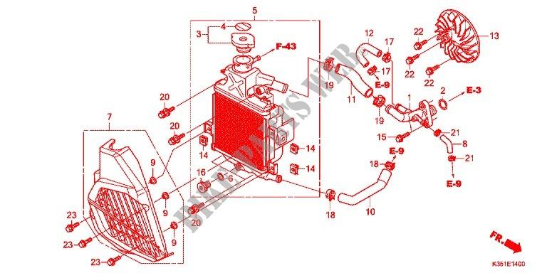 Radiator For Honda Pcx 125 2015   Honda Motorcycles  U0026 Atvs