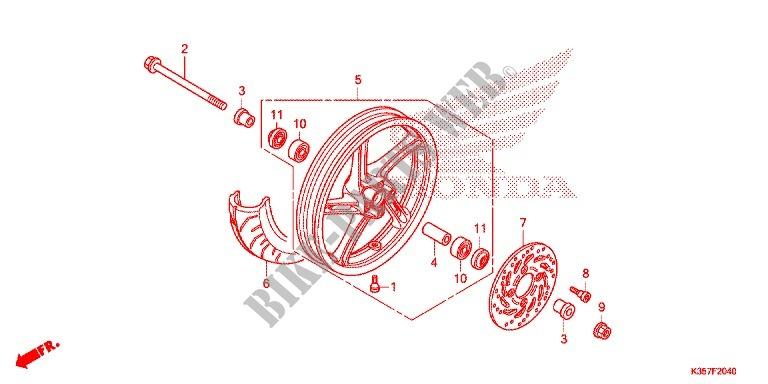 Rear Wheel For Honda Pcx 125 2017   Honda Motorcycles  U0026 Atvs Genuine Spare Parts Catalog