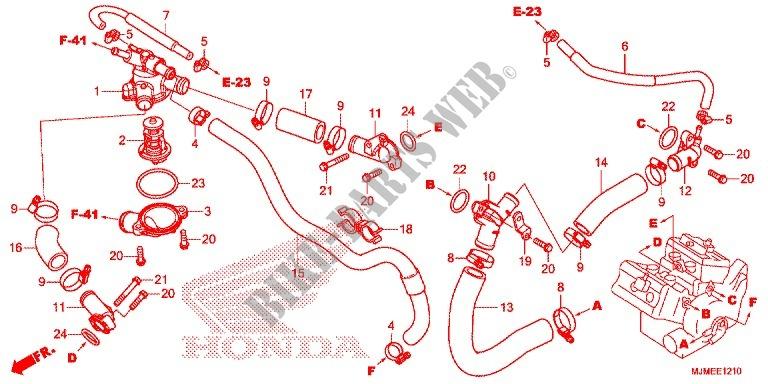 Honda OEM Part 19528-MCW-H00