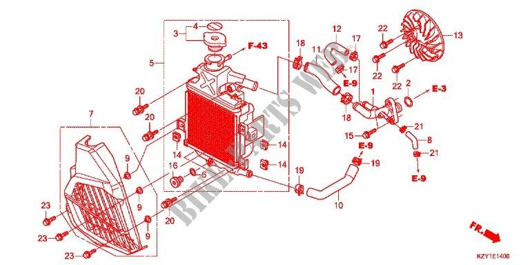 Radiator For Honda Pcx 150 Black 2014   Honda Motorcycles