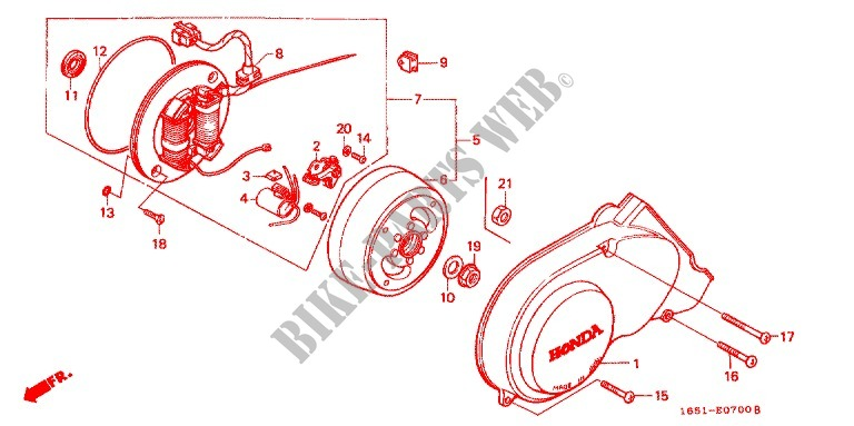 Left Crankcase Cover Alternator 1 For Honda Monkey 50 Type 7 1985 Honda Motorcycles Atvs Genuine Spare Parts Catalog