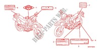 CAUTION LABEL (1) Frame 400 honda-motorcycle XR 2007 F_32