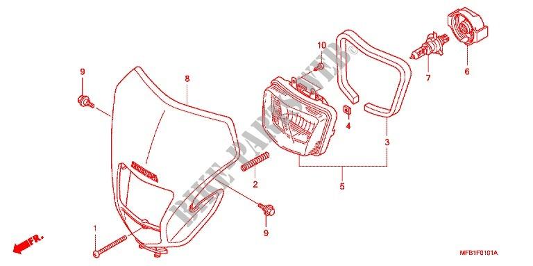 PROJECTEUR (XR4007/8) for Honda XR 400 MOTARD 2007 # HONDA ... on sincgars radio configurations diagrams, switch diagrams, transformer diagrams, series and parallel circuits diagrams, led circuit diagrams, engine diagrams, honda motorcycle repair diagrams, smart car diagrams, internet of things diagrams, electrical diagrams, lighting diagrams, gmc fuse box diagrams, battery diagrams, troubleshooting diagrams, electronic circuit diagrams, pinout diagrams, hvac diagrams, friendship bracelet diagrams, motor diagrams,