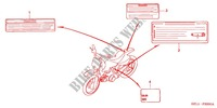 CAUTION LABEL (1) for Honda XR 50 2001