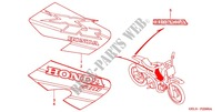 STICKERS (XR50RY/1) for Honda XR 50 2001