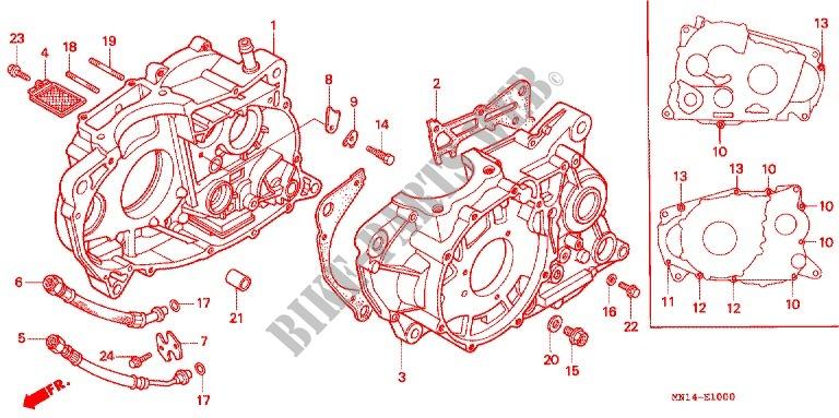 CRANKCASE OIL PUMP Engine XR600RV 1997 XR 600 MOTO Honda motorcycle