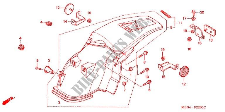 rear fender frame xr650r2 2002 xr 650 moto honda motorcycle honda rh bike parts honda com
