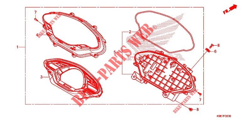 Meter For Honda Pcx 125 2019   Honda Motorcycles  U0026 Atvs
