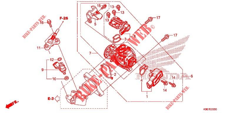Throttle Body Injector For Honda Pcx 125 2019   Honda