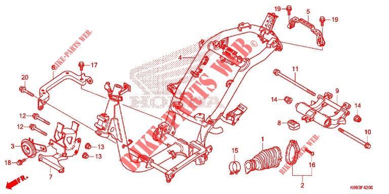 Frame For Honda Activa S 125 2017   Honda Motorcycles