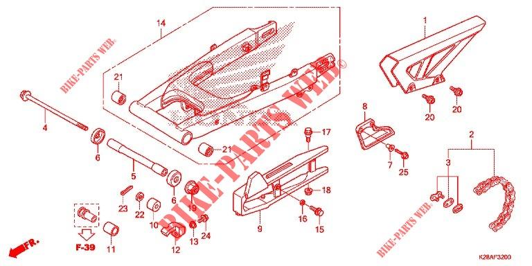 HONDA 52160-K28-910 GUARD CHAIN