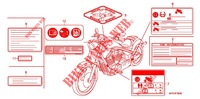 CAUTION LABEL for Honda VT 1300 FURY ABS 2010
