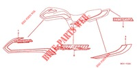 MARQUE (SFX 3J/4J) (SFY) (SF1 2J/3J/4J/5J) for Honda CB 400 SUPER FOUR SOLID COLOR 2001