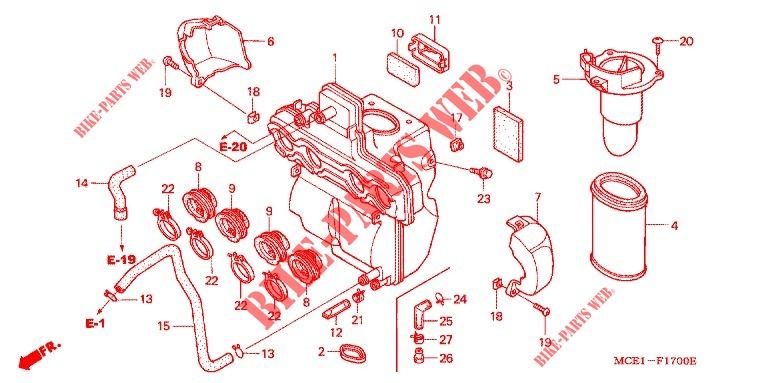 Honda OEM Part 17358-KR8-750