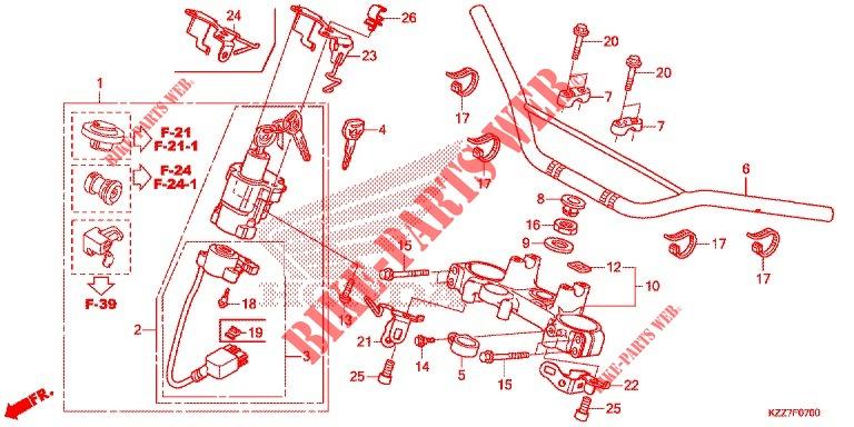 Honda OEM Part 53100-KZZ-J00