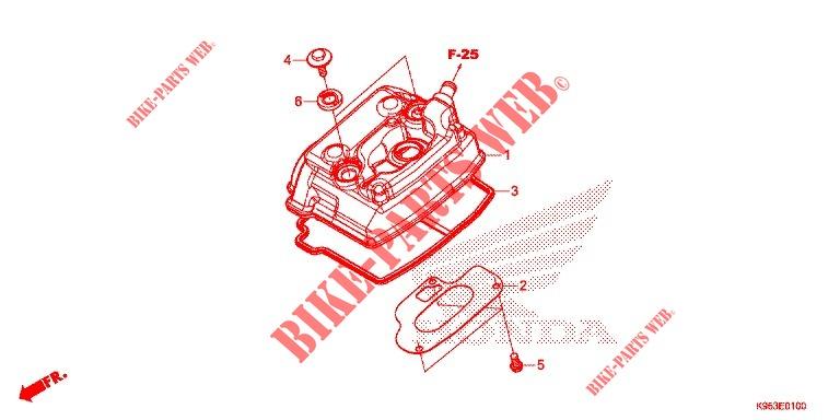 Cylinder Head Cover For Honda Crf 250 R 2020   Honda