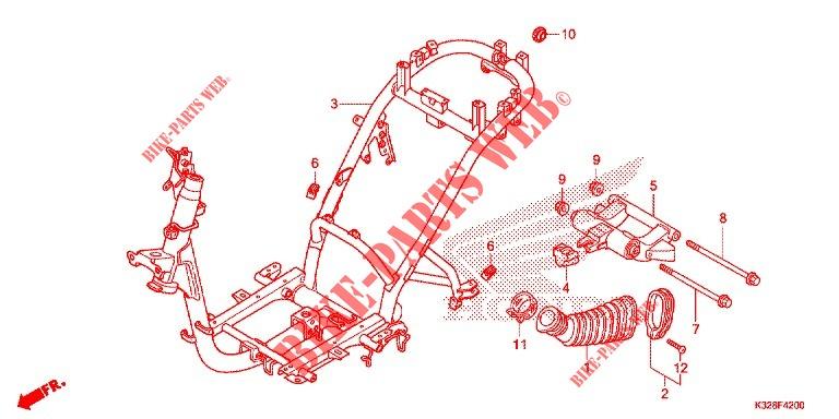 Frame For Honda Scv 110 Activa 3id 2015   Honda